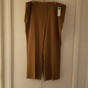 Womens tan trouser pants charter club 24w plus